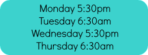 forever fit schedule banner